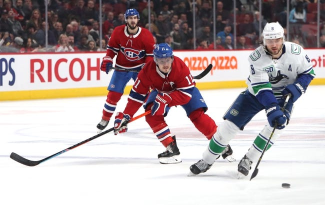 Vancouver Canucks vs Montreal Canadiens NHL Picks, Odds, Predictions 1/20/21