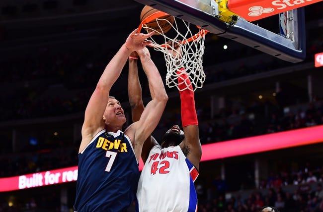 Detroit Pistons at Denver Nuggets - 2/1/21 NBA Picks and Prediction