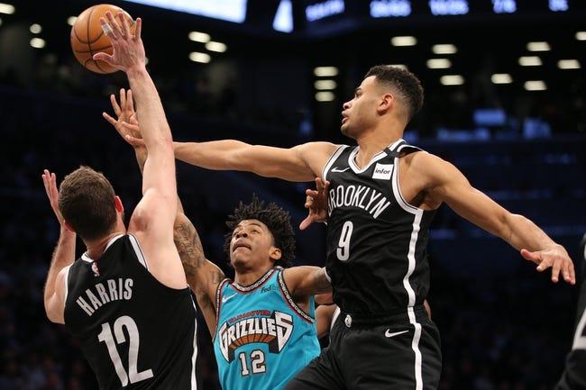 Brooklyn Nets vs Memphis Grizzlies NBA Picks, Odds, Predictions 12/28/20