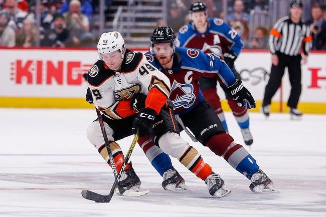 Colorado Avalanche at Anaheim Ducks - 1/22/21 NHL Picks and Prediction