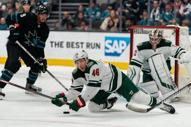 San Jose Sharks at Minnesota Wild - 1/22/21 NHL Picks and Prediction