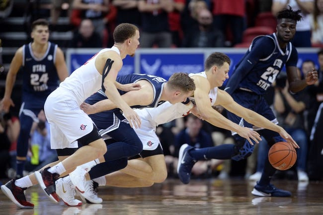 Utah State vs San Diego State College Basketball Picks, Odds, Predictions 1/14/21