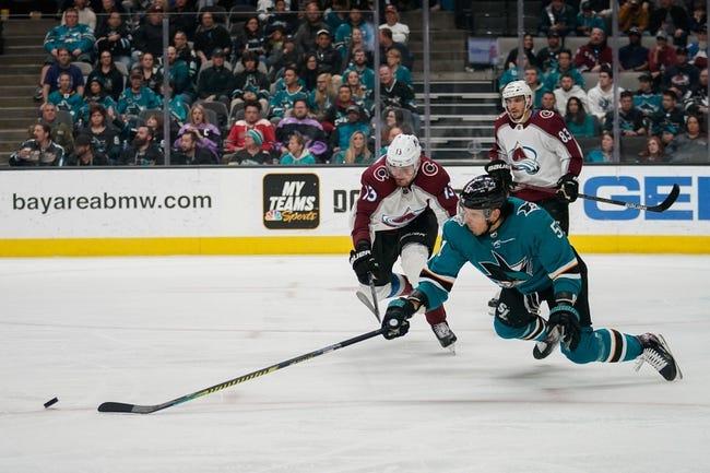 Colorado Avalanche vs San Jose Sharks NHL Picks, Odds, Predictions 1/26/21