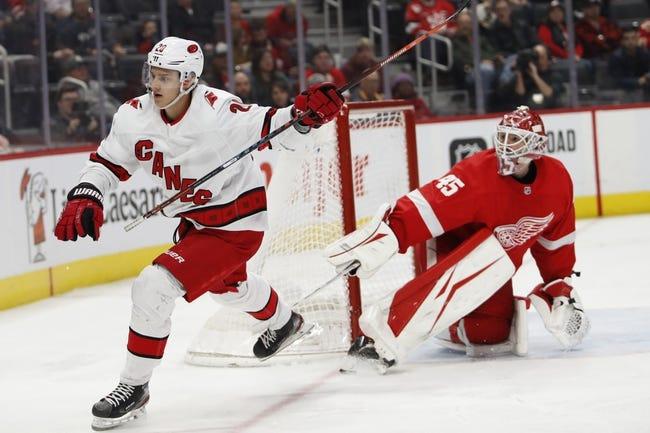 Carolina Hurricanes at Detroit Red Wings - 1/14/21 NHL Picks and Prediction