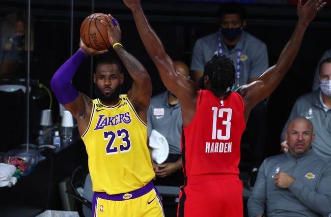 Los Angeles Lakers at Houston Rockets - 1/10/21 NBA Picks and Prediction