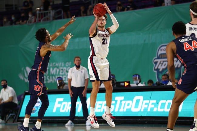 Gonzaga vs Northwestern State College Basketball Picks, Odds, Predictions 12/21/20