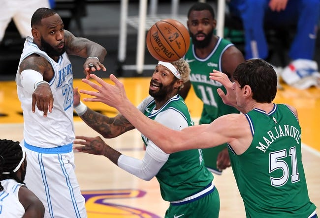 Los Angeles Lakers at Dallas Mavericks - 4/22/21 NBA Picks and Prediction