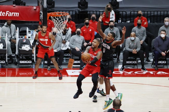 Portland Trail Blazers at Houston Rockets - 1/28/21 NBA Picks and Prediction