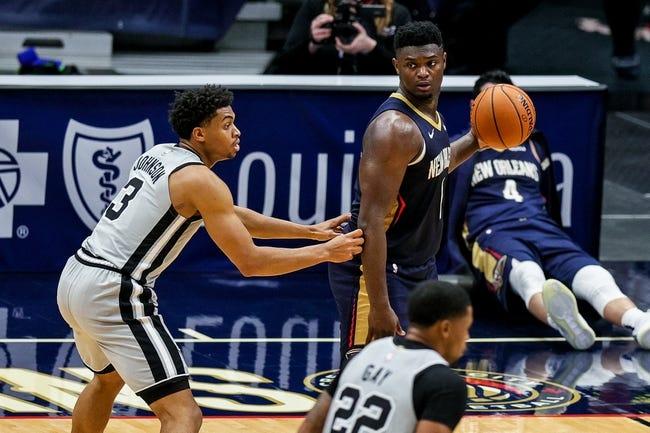 New Orleans Pelicans at San Antonio Spurs - 2/27/21 NBA Picks and Prediction