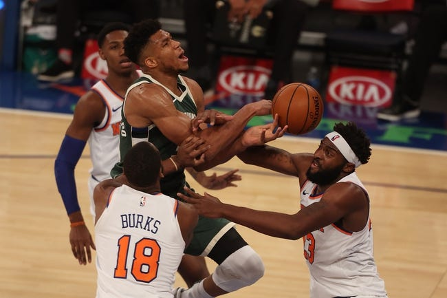 New York Knicks at Milwaukee Bucks - 3/11/21 NBA Picks and Prediction