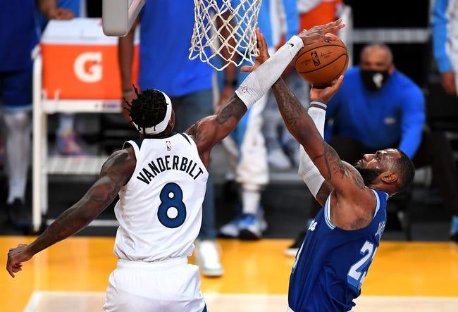 Los Angeles Lakers at Minnesota Timberwolves - 2/16/21 NBA Picks and Prediction