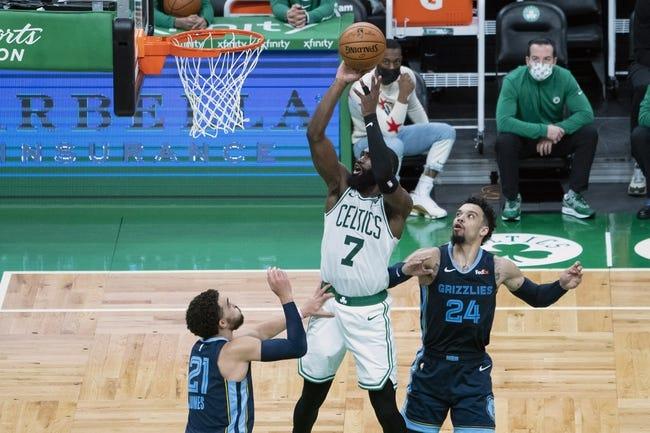 Boston Celtics at Memphis Grizzlies - 3/22/21 NBA Picks and Prediction