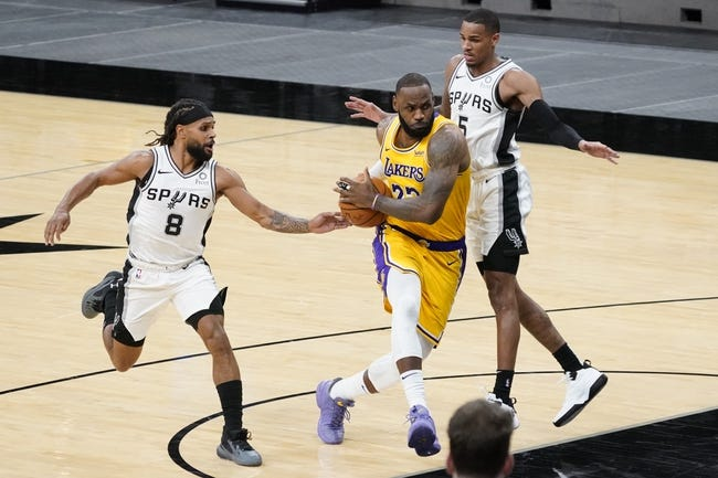 San Antonio Spurs vs Los Angeles Lakers NBA Picks, Odds, Predictions 1/1/21