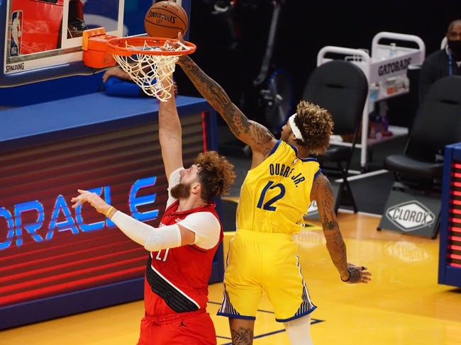 Golden State Warriors at Portland Trail Blazers - 3/3/21 NBA Picks and Prediction