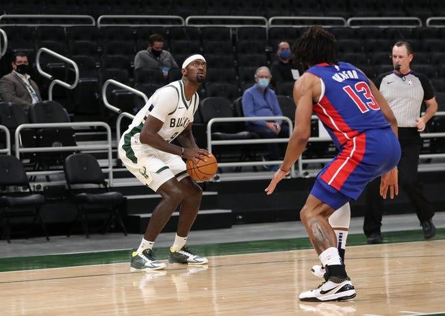 Detroit Pistons vs Milwaukee Bucks NBA Picks, Odds, Predictions 1/13/21