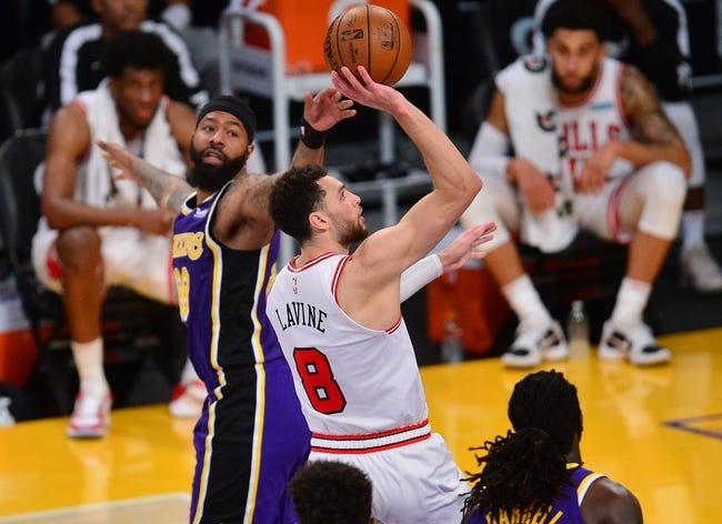 Los Angeles Lakers at Chicago Bulls - 1/23/21 NBA Picks and Prediction
