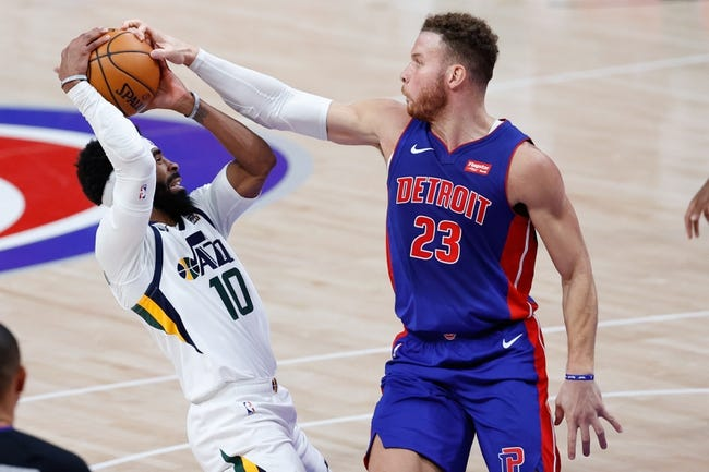 Detroit Pistons at Utah Jazz - 2/2/21 NBA Picks and Prediction