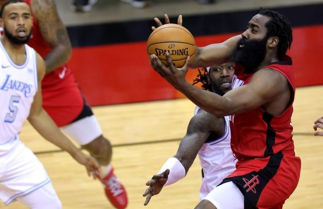 Los Angeles Lakers at Houston Rockets - 1/12/21 NBA Picks and Prediction