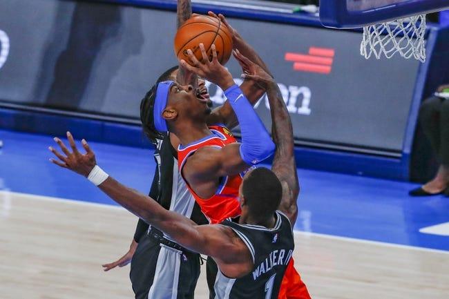 San Antonio Spurs at Oklahoma City Thunder - 2/24/21 NBA Picks and Prediction
