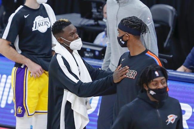 Oklahoma City Thunder at Los Angeles Lakers - 2/8/21 NBA Picks and Prediction