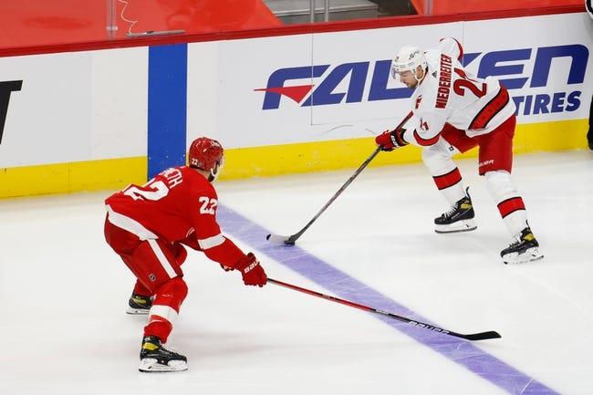 Carolina Hurricanes at Detroit Red Wings - 1/16/21 NHL Picks and Prediction