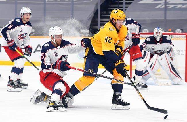 Columbus Blue Jackets at Nashville Predators - 1/16/21 NHL Picks and Prediction