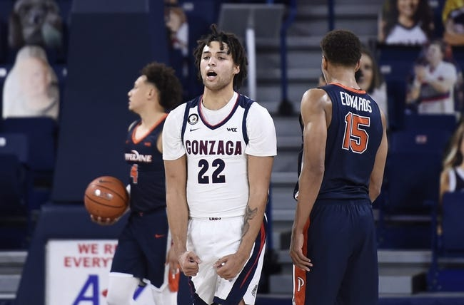 Gonzaga at St. Mary's 1/16/21 College Basketball Picks and Predictions