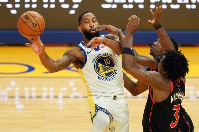 Golden State Warriors at Toronto Raptors - 4/2/21 NBA Picks and Prediction