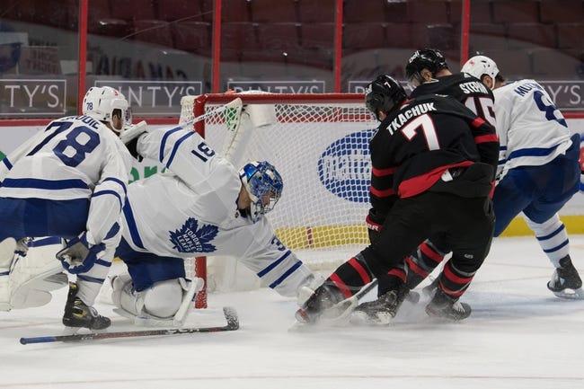 Toronto Maple Leafs at Ottawa Senators - 1/16/21 NHL Picks and Prediction