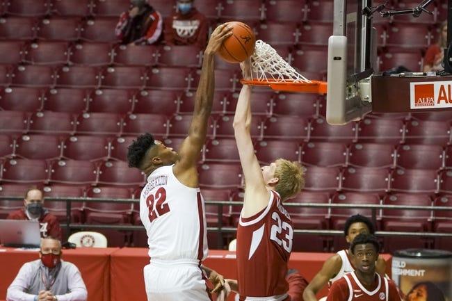 Alabama at Arkansas: 2/24/21 College Basketball Picks and Predictions