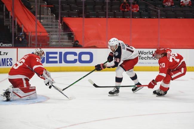 Detroit Red Wings vs Columbus Blue Jackets NHL Picks, Odds, Predictions 1/19/21