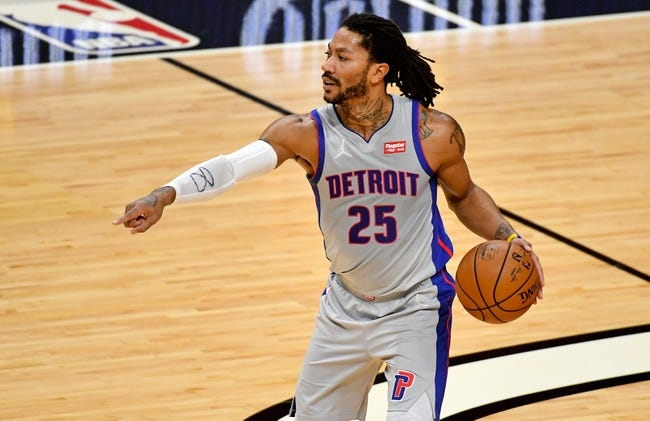 Philadelphia 76ers at Detroit Pistons - 1/23/21 NBA Picks and Prediction