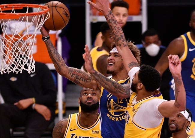 Golden State Warriors at Los Angeles Lakers - 2/28/21 NBA Picks and Prediction