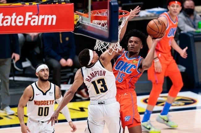 Oklahoma City Thunder at Denver Nuggets - 2/12/21 NBA Picks and Prediction