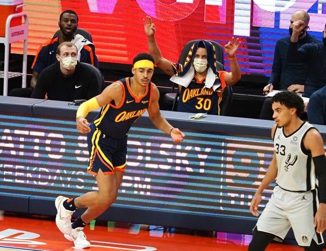 Golden State Warriors at San Antonio Spurs - 2/8/21 NBA Picks and Prediction