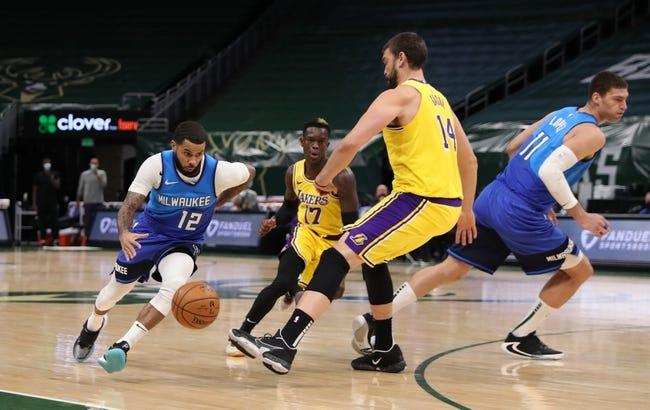 Milwaukee Bucks at Los Angeles Lakers - 3/31/21 NBA Picks and Prediction