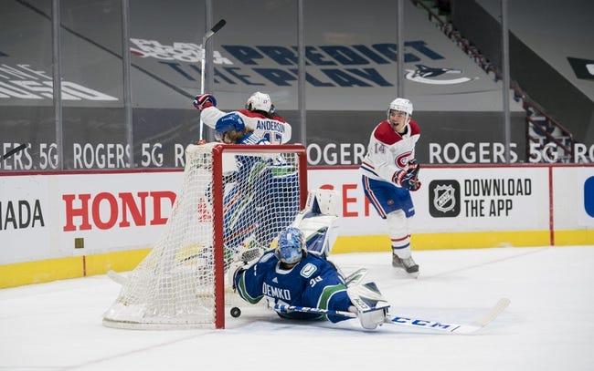 Montreal Canadiens at Vancouver Canucks - 1/23/21 NHL Picks and Prediction