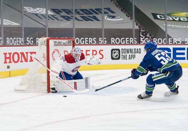 Vancouver Canucks vs Montreal Canadiens NHL Picks, Odds, Predictions 1/23/21
