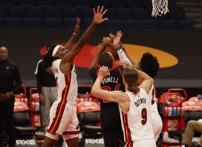 Toronto Raptors at Miami Heat - 2/24/21 NBA Picks and Prediction