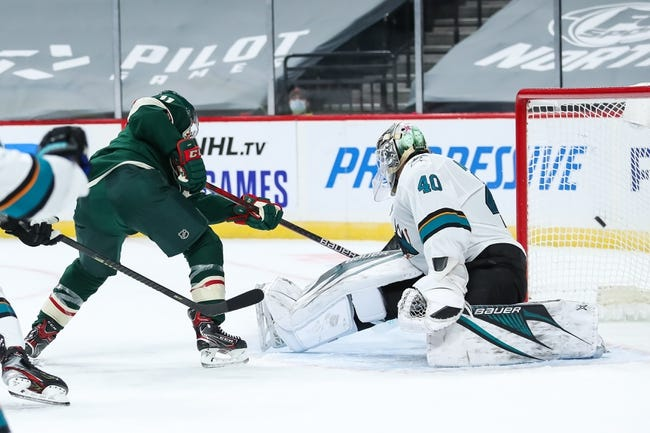 San Jose Sharks at Minnesota Wild - 1/24/21 NHL Picks and Prediction