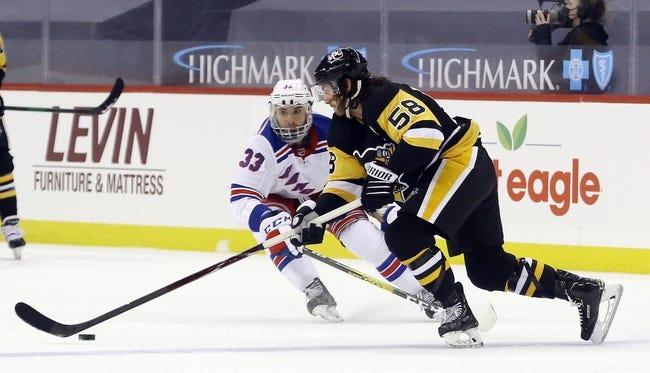 New York Rangers at Pittsburgh Penguins - 1/24/21 NHL Picks and Prediction