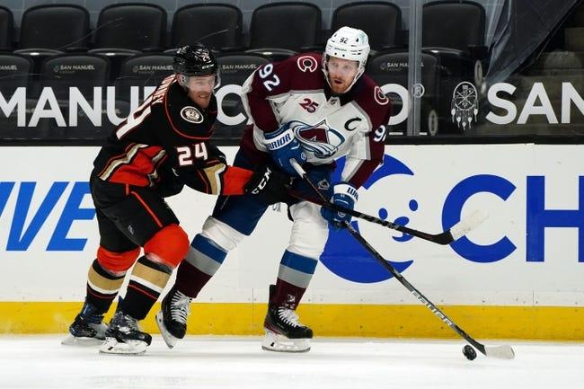 Colorado Avalanche at Anaheim Ducks - 1/24/21 NHL Picks and Prediction