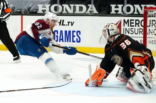 Anaheim Ducks vs Colorado Avalanche NHL Picks, Odds, Predictions 1/24/21
