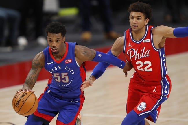 Detroit Pistons vs Philadelphia 76ers NBA Picks, Odds, Predictions 1/25/21