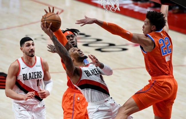 Portland Trail Blazers at Oklahoma City Thunder - 2/16/21 NBA Picks and Prediction
