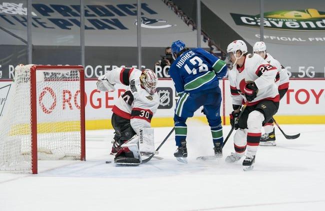 Vancouver Canucks vs Ottawa Senators NHL Picks, Odds, Predictions 1/27/21