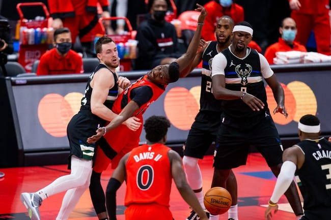 Toronto Raptors at Milwaukee Bucks - 2/16/21 NBA Picks and Prediction