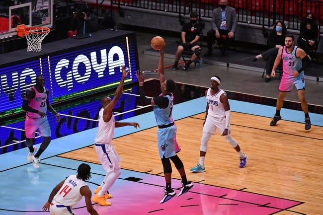 Miami Heat at Los Angeles Clippers - 2/15/21 NBA Picks and Prediction