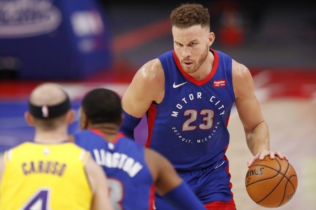 Detroit Pistons at Los Angeles Lakers - 2/6/21 NBA Picks and Prediction