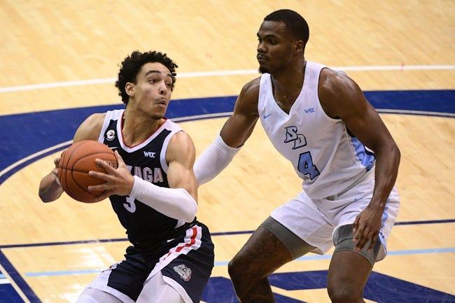 San Diego at Gonzaga: 2/20/21 College Basketball Picks and Prediction